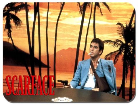 Scarface Al Pacino Sunset Scene Mouse Mat. Quality Movie Film Poster Mouse Pad